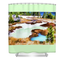 Thermal Pools, West Thumb Ynp Shower Curtain