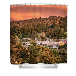 Thermal Village Rotorua Shower Curtain