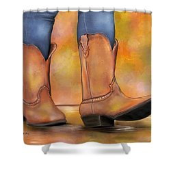 These Boots Are Made For Walkin  Shower Curtain
