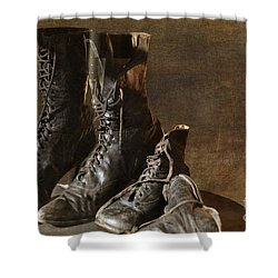 These Boots Are Made For Walking Shower Curtain