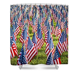 Shower Curtain featuring the photograph These Colors Don't Run by Andy Crawford