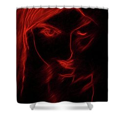 Shower Curtain featuring the digital art These Eyes by John Haldane