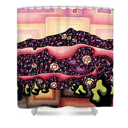 Theta Frequency Shower Curtain by Dale Beckman