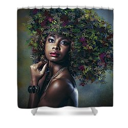They Call Her Autumn Shower Curtain by Brian Tarr