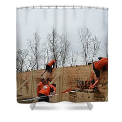 They Call It The Berlin Walls Shower Curtain by Randy J Heath