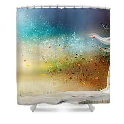 They Call Me Winter Shower Curtain by Mary Hood