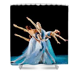 They Danced Shower Curtain by Catherine Lott
