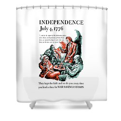They Kept The Faith - Ww2 Shower Curtain by War Is Hell Store
