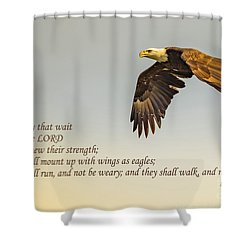 They That Wait Upon The Lord Shower Curtain by John Roberts