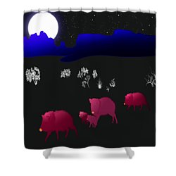 They Walk By Night Shower Curtain