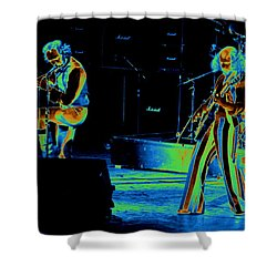 Thick As An Electric Brick Shower Curtain by Ben Upham