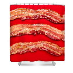 Thick Cut Bacon Shower Curtain