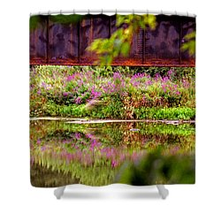 Thick Shower Curtain by David Gilbert