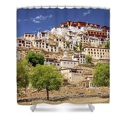 Shower Curtain featuring the photograph Thikse Monastery by Alexey Stiop
