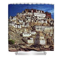 Thiksey Monastery Shower Curtain by Steve Harrington
