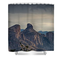 Shower Curtain featuring the photograph Thimble Peak Sunrise by Dan McManus