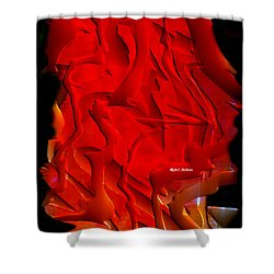 Shower Curtain featuring the digital art Things Are Getting Hot by Rafael Salazar