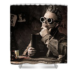 Shower Curtain featuring the photograph Things To Consider - Steampunk - World Domination by Gary Heller