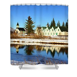 Shower Curtain featuring the photograph Thingvellir Iceland  by Matthias Hauser