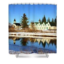 Thingvellir Iceland  Shower Curtain by Matthias Hauser