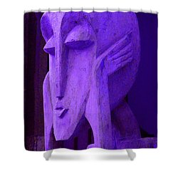 Think About It Shower Curtain by Debbi Granruth