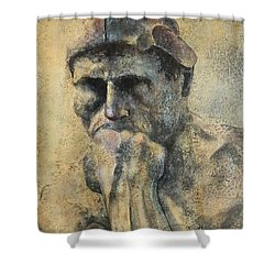 Think Shower Curtain by John Henne