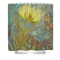 Shower Curtain featuring the painting Think On Good Things by Robin Maria Pedrero
