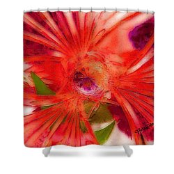 Think Outside The Vase #8801_1 Shower Curtain by Barbara Tristan