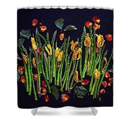 Think Spring Asparagus Shower Curtain
