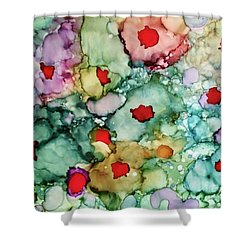 Shower Curtain featuring the painting Think Spring by Denise Tomasura