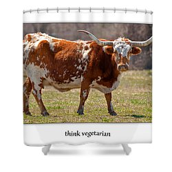 Think Vegetarian Shower Curtain