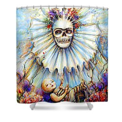 Thinking About Life Shower Curtain
