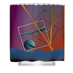 Thinking About The Future Shower Curtain