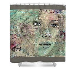 Thinking Back Shower Curtain by P J Lewis