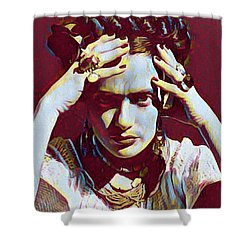Thinking Frida Shower Curtain