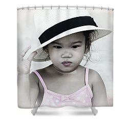 Thinking Shower Curtain
