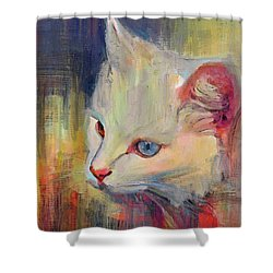 Thinking Of Mouse Shower Curtain
