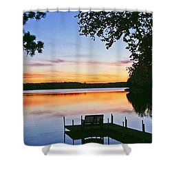 Thinking Of You Shower Curtain by Bill Morgenstern