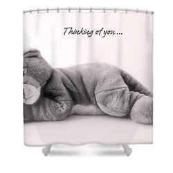 Thinking Of You Shower Curtain by Gina Dsgn