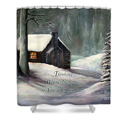 Thinking Warm Thoughts Of You Shower Curtain