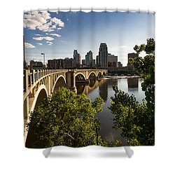 Third Avenue Bridge Shower Curtain