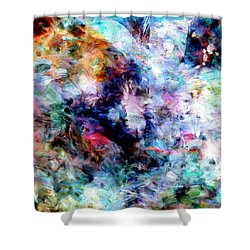 Shower Curtain featuring the painting Third Bardo by Dominic Piperata