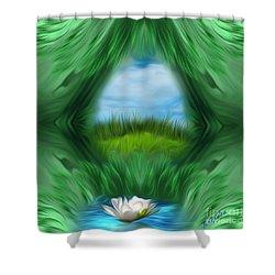 Third Eye Dimension Shower Curtain