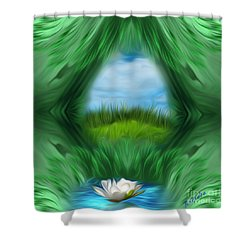 Shower Curtain featuring the digital art Third Eye Dimension by Giada Rossi