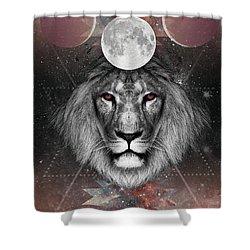 Third Eye Lion Vision Shower Curtain by Lori Menna