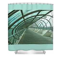 Third Millenium Bridge, Zaragoza, Spain Shower Curtain by Tamara Sushko