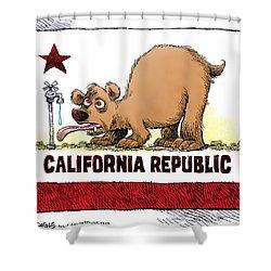 Thirsty California Flag Shower Curtain