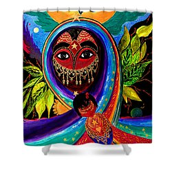 Shower Curtain featuring the painting Mother And Child by Marina Petro