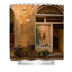 Thirteen Shower Curtain by Mick Burkey