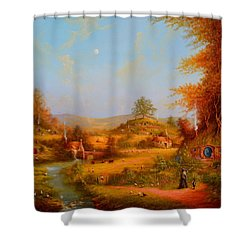This Could Spell Trouble. Shower Curtain